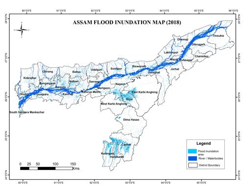 Assam Flood Inundation Map,(2018-19)