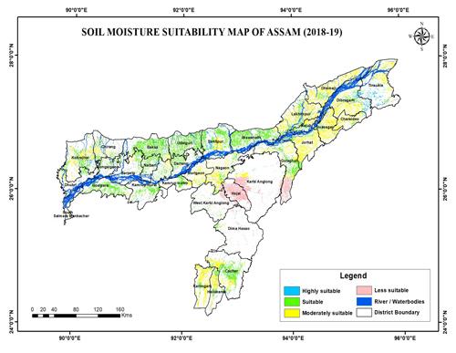 Soil Moisture Suitability Map of Assam (2018-19)