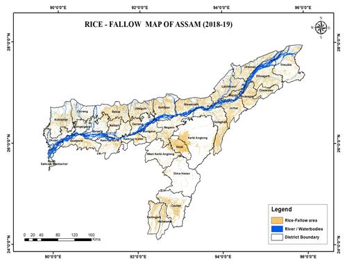 Rice-Fallow Map of Assam (2018-19)
